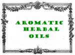 antic label aromatic herbal oils