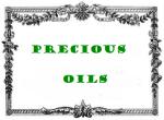 antic label precious oils